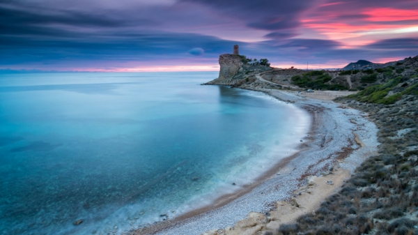 spanienurlaub alicante bucht sonnenuntergang