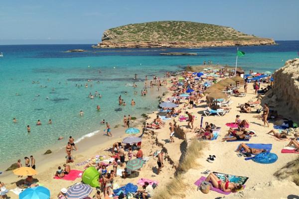 spanienurlaub strand cala comte ibiza