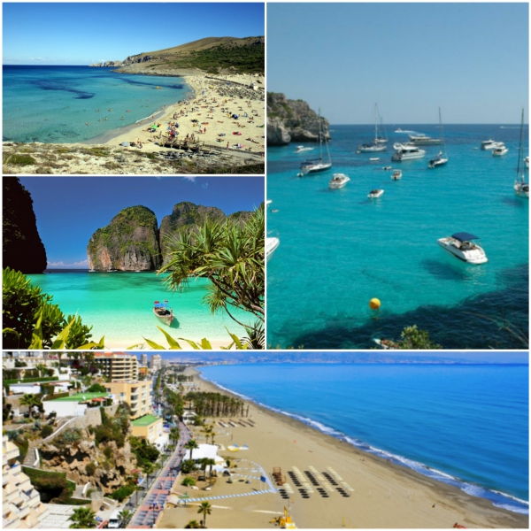 spanienurlaub strandurlaub fotos collage