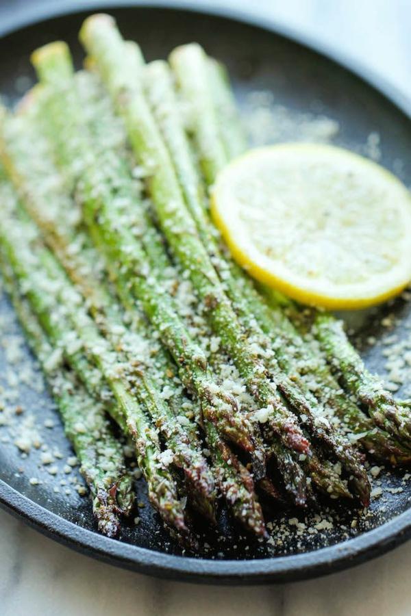 spargel gesund essen rezept spargel mit zitrone und parmesan