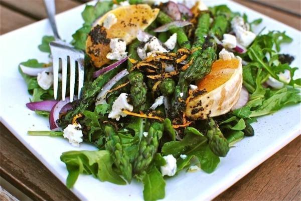 spargel pflanzen grün salat