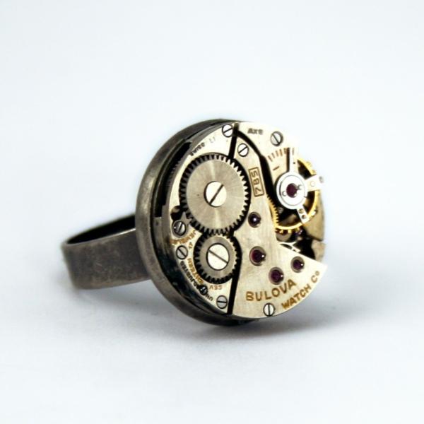 steampunk schmuck alte uhr ring mechanismus