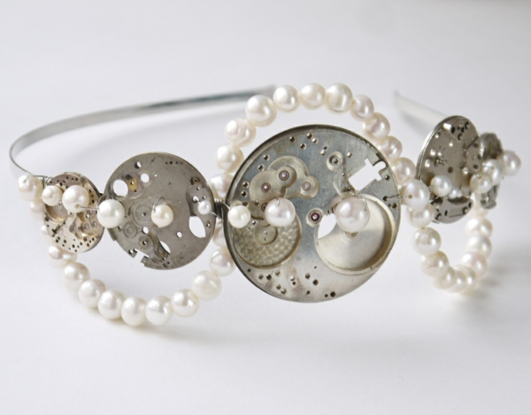 steampunk schmuck armband perlen