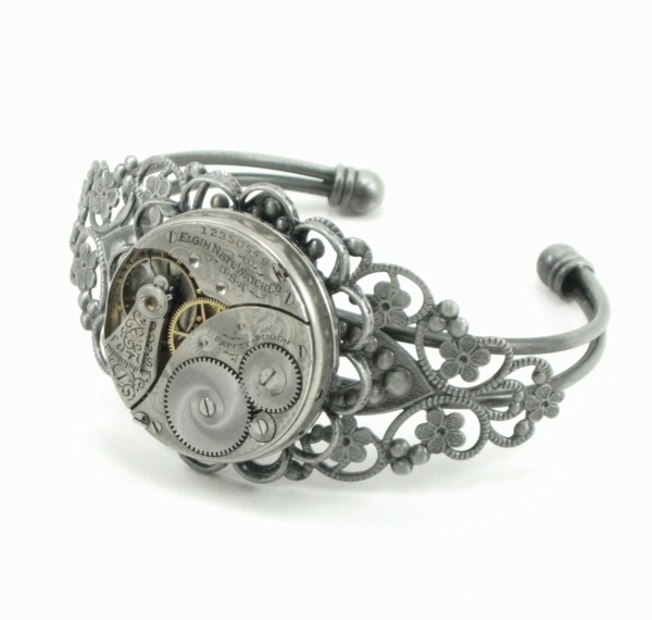 steampunk kunst armband uhrmechanismus