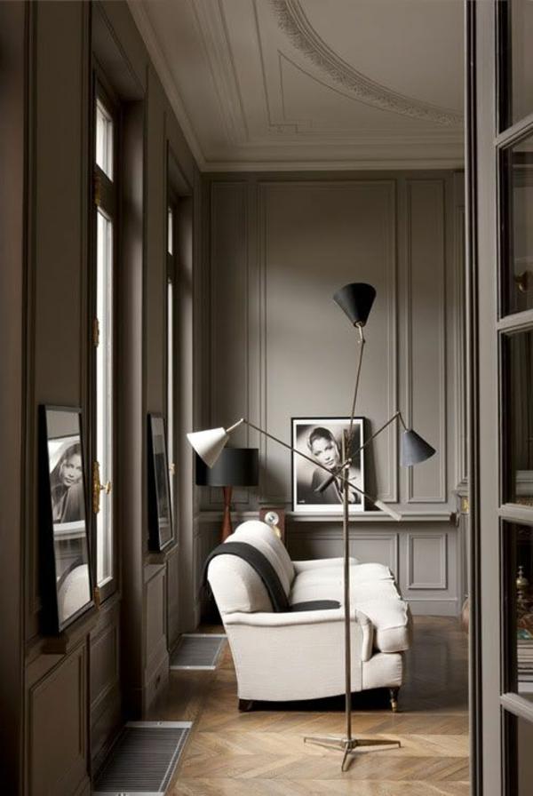 stehlampe design weißes sofa wohnzimmer