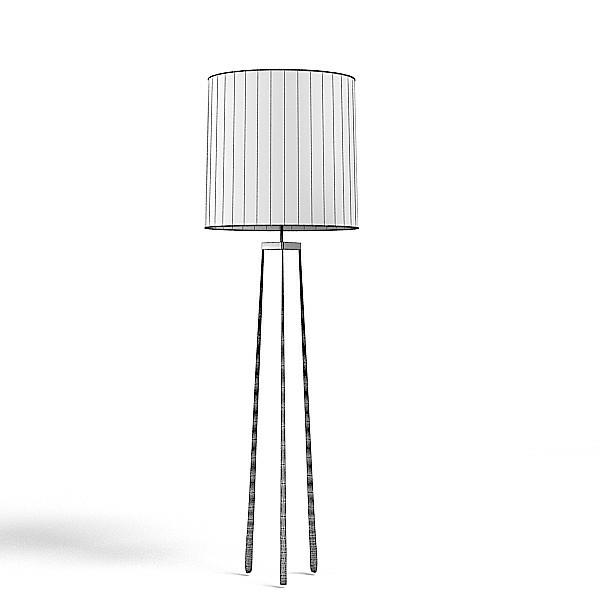 stehlampe eleganter lampenschirm beleuchtung ideen