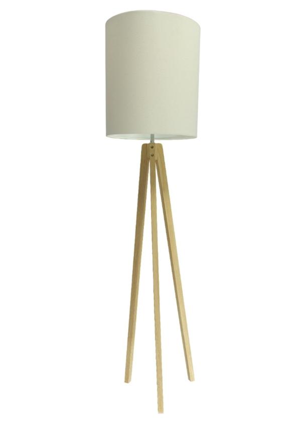 stehlampe lampenschirm design holzbasis beleuchtung