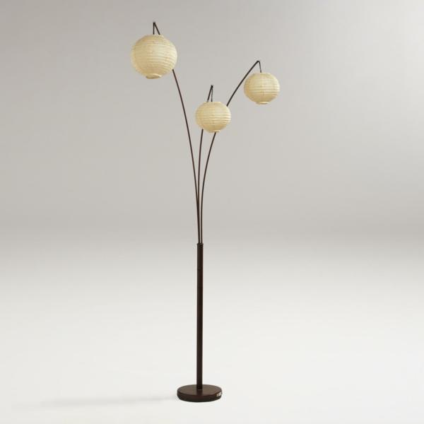 stehlampe lampenschirm design rund interessant