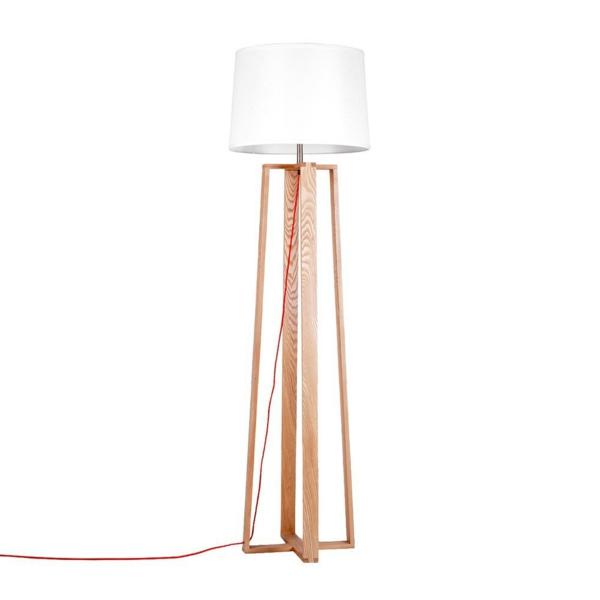 stehlampen klassischer weißer lampenschirm