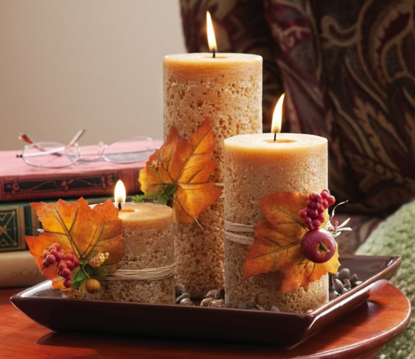 Fall Candle Decorating Ideas