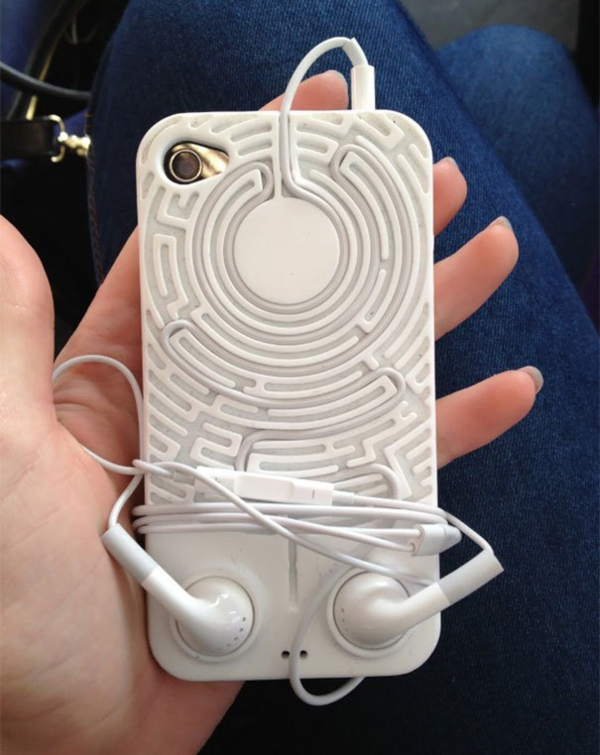 telefon etui irrgarten design ausgefallen