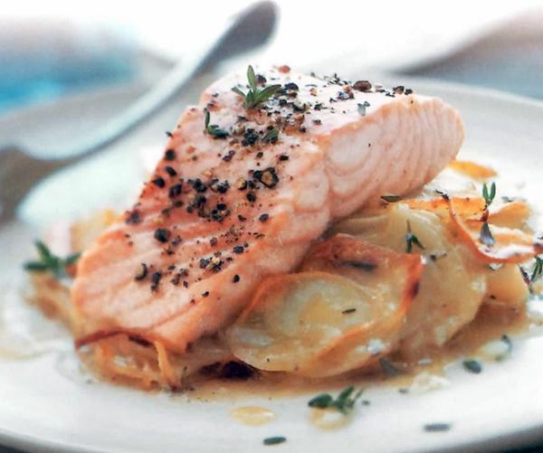 thymian pflege essen rezept fisch lachs