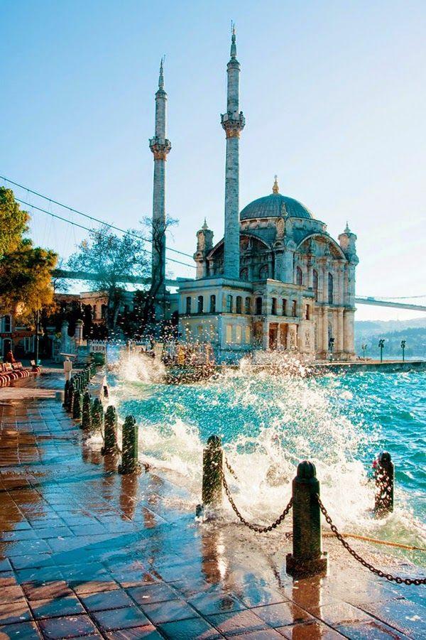 traumurlaub türkei moschee meer reisen