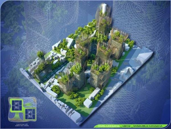 treibhausgase paris 2050 bambus türme