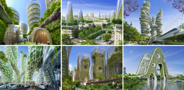 treibhausgase paris 2050 collage