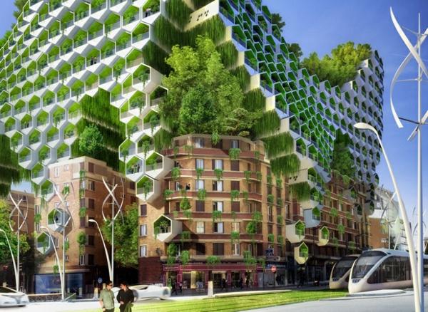 treibhausgase paris futuristische architekture