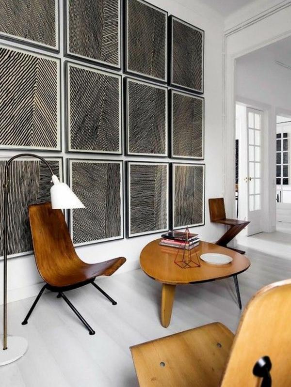 vintage möbel holz design graphische wandgestaltung