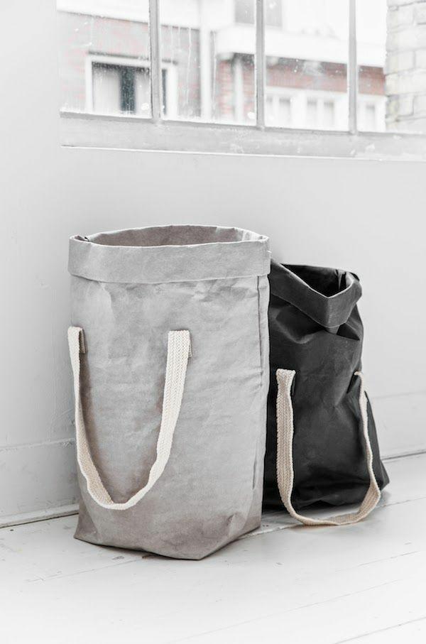 wäschesack aus stoff nähen waschküche einrichten