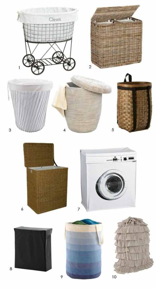 wäschekorb rattan verschiedene arten waschküche einrichten
