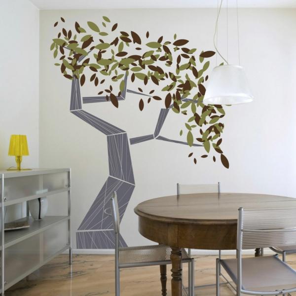 wandsticker wohnzimmer moderne wandgestaltung baum