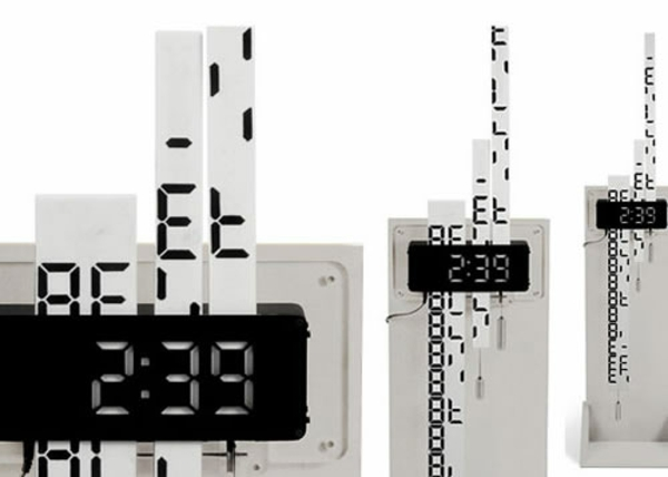 wanduhr design elektronische ziffer