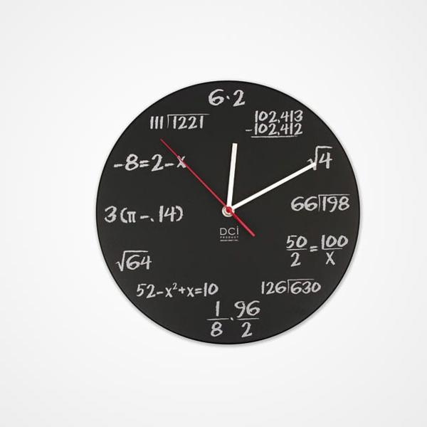 wanduhr design mathematische formel