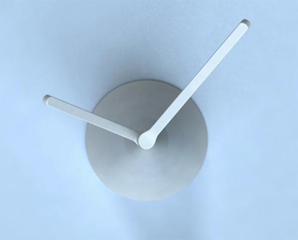 wanduhr design minimalistisch aluminium
