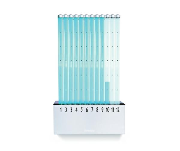 wanduhrdesign wasser säulen