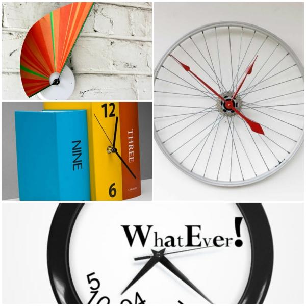 wanduhr design collage uhren