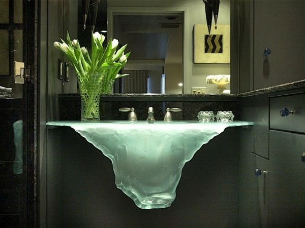 waschbecken design glassworks