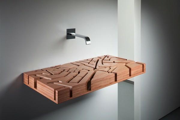 30 Beispiele für außergewönliches Waschbecken Design | {Waschtisch holzplatte 90}