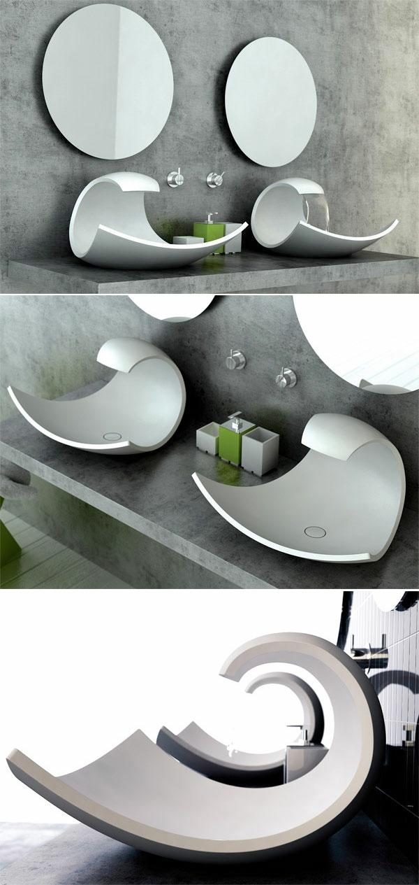30 Beispiele für außergewönliches Waschbecken Design | {Waschbecken design eckig 81}