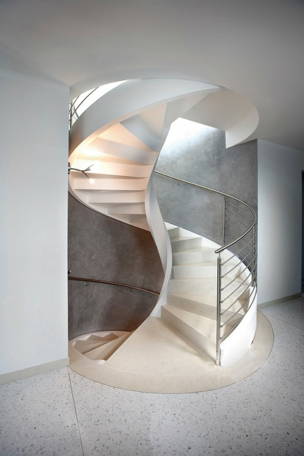 faszinierende wendeltreppen perfekte spiralen mit modernem design. Black Bedroom Furniture Sets. Home Design Ideas