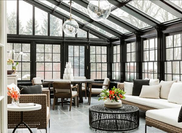 wohnraum wintergarten gestalten lounge möbel wohnwintergarten bilder
