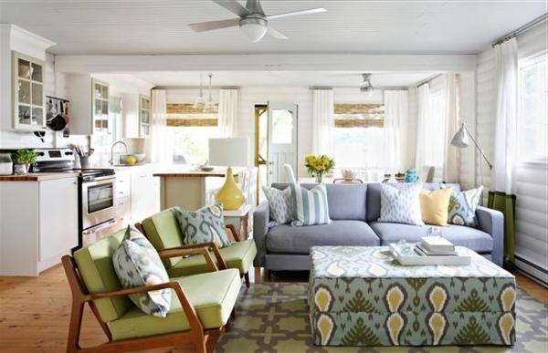 wohnung gemütlich einrichten offener wohnplan wohnzimmer küche