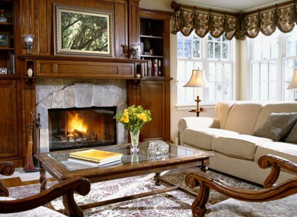 wohnung gemütlich einrichten - ein paar schöne einrichtungsideen - Wohnzimmer Gemutlich Kamin