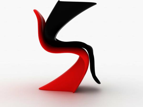 wohnungsgestaltung panton stuhl designer möbel