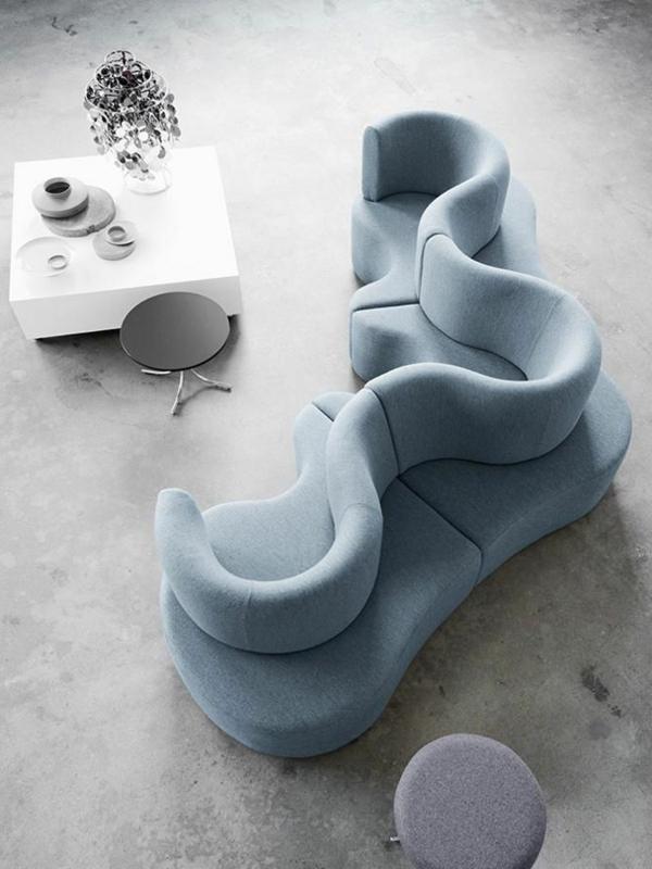 wohnungsgestaltung wohnzimmer tolles sofa werner panton