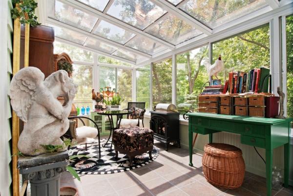 Wohnwintergarten gestalten und in eine gemütliche Glasoase