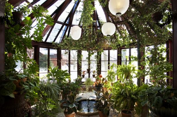 wohnwintergarten bilder wohnraum wintergarten zimmerpflanzen arten
