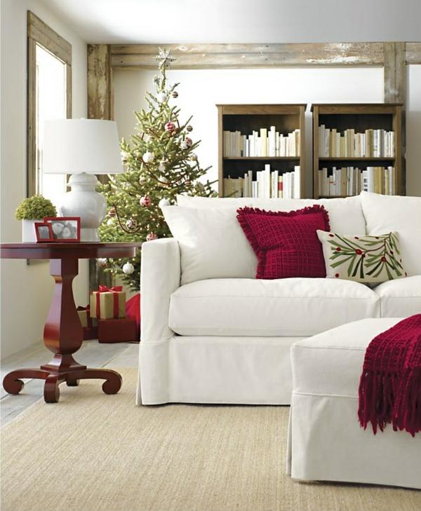 Wohnzimmer Einrichten Sofa Rote Akzente