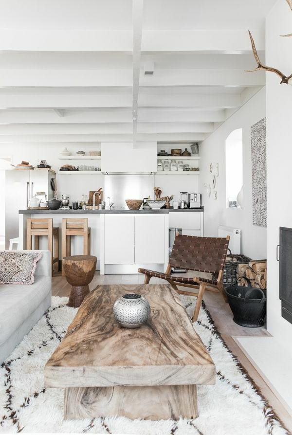 wohnzimmer holzmöbel:wohnzimmer rustikaler einrichtungsstil holzmöbel wanddeko