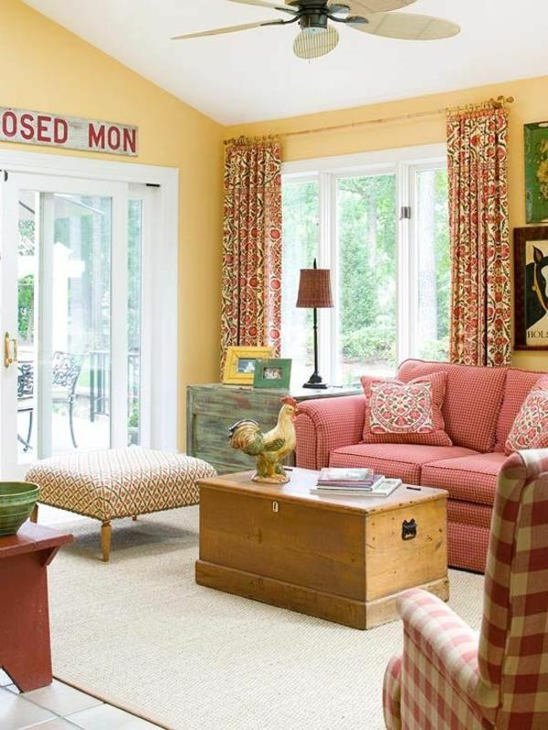 landhaus sofas helfen dem wohnzimmer gemütlicher zu erscheinen - Wohnzimmer Landhausstil Gelb