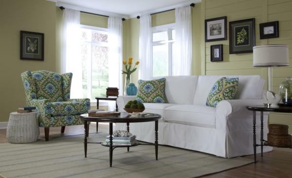 couch wohnzimmer:Landhaus Sofas helfen dem Wohnzimmer gemütlicher zu erscheinen