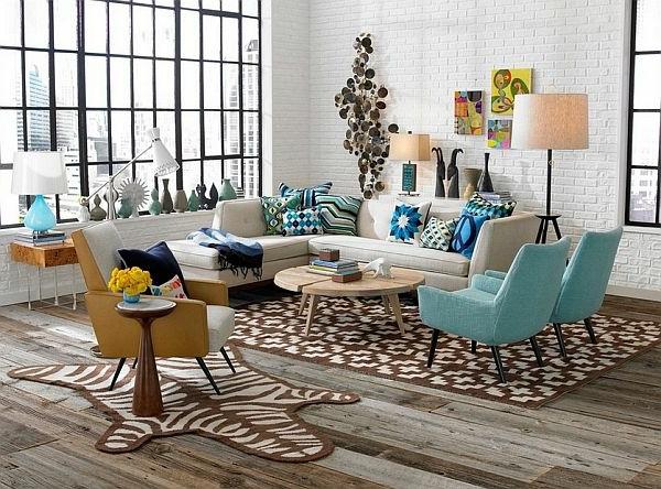 wohnzimmer retro stil:Elegante Wohnzimmer Ausstattung im Vintage Stil