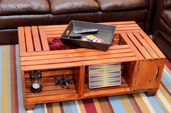 Wohnzimmertisch Beleuchtet Holz Selber Bauen Aus