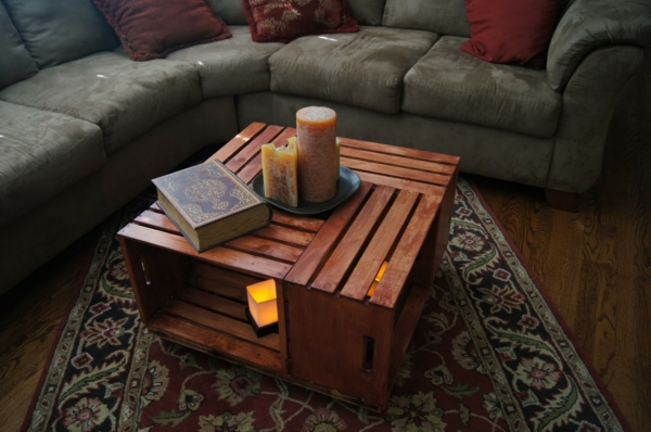 wohnzimmertisch aus holz selber bauen tolle diy ideen zum nachmachen. Black Bedroom Furniture Sets. Home Design Ideas