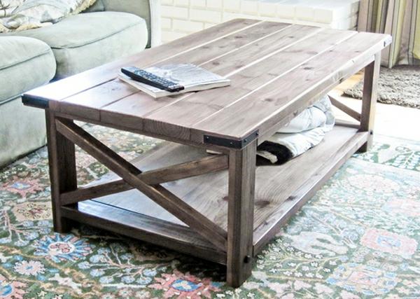 Wohnzimmertisch Selber Bauen Couchtisch Holz Unterfach