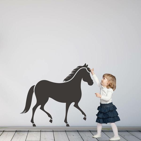wunderschöne wandgestaltung wandsticker pferd