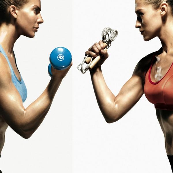 Aerobes Training sport und fitness programme gewichte
